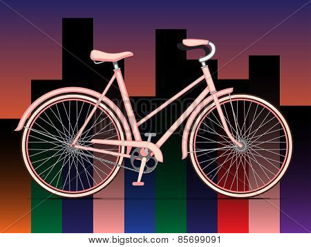 Womens Pink City Bicycle