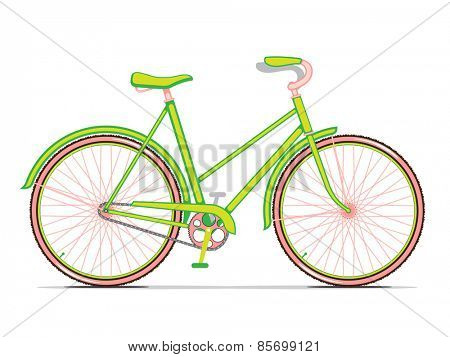 Womens Green City Bicycle