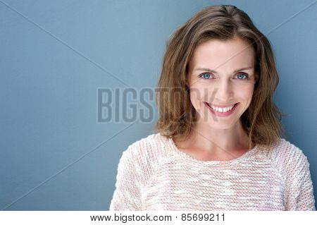 Beautiful Older Woman Smiling With Sweater