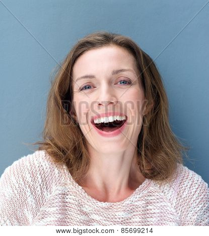 Happy Older Woman Laughing