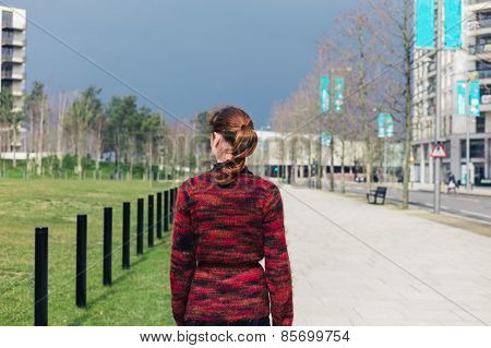 Woman Walking In The Street