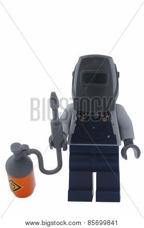 Welder Lego Minifigure