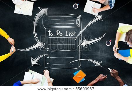 To Do List Resolution Aspiration Organization Management Concept