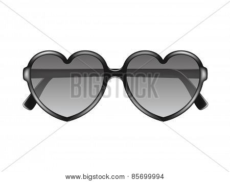 Sun glasses in shape of heart