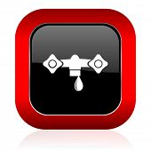 stock photo of hydraulics  - water icon hydraulics sign  - JPG