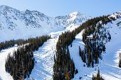 stock photo of passed out  - Typical weekend at Loveland pass on late Winter day. ** Note: Soft Focus at 100%, best at smaller sizes - JPG