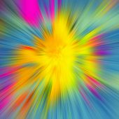 pic of divergent  - blurred colored background divergent rays pink yellow blue - JPG