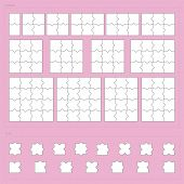 picture of jigsaw  - Vector parts of paper jigsaw puzzle set - JPG