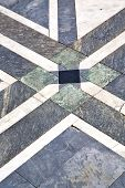 Постер, плакат: N Abstract Pavement Of A Curch And Marble