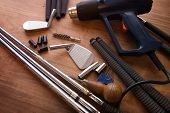 picture of work bench  - Golf club making or club assembly - JPG