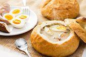 stock photo of vegetable soup  - Polish Easter soup - JPG