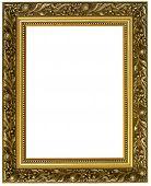 Постер, плакат: Встраиваемая горизонтальная рамка Золотая