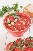 foto of vegetable soup  - Gazpacho - JPG