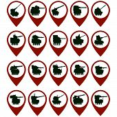pic of armored car  - Badges with the abstract image of armored vehicles - JPG