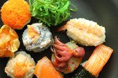 stock photo of sushi  - various sushi rolls - JPG