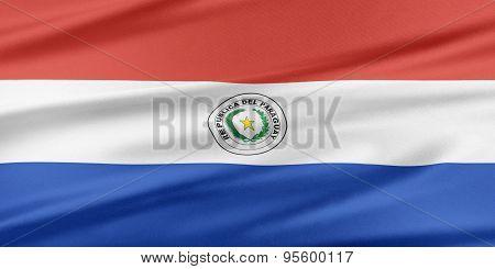 Paraguay Flag.