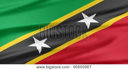 Saint Kitts And Nevis Flag.