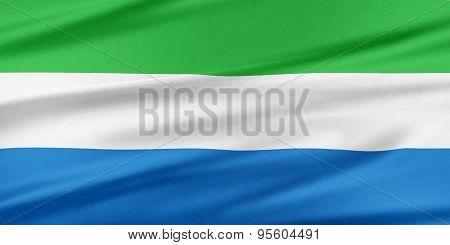 Sierra Leone Flag.