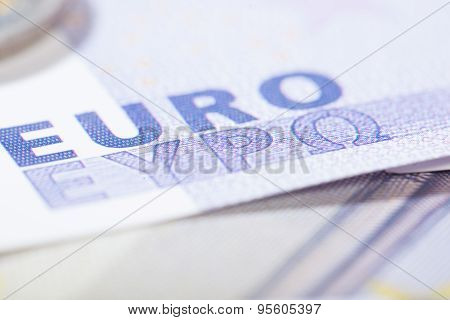 Euro Closeup On Greek Letters
