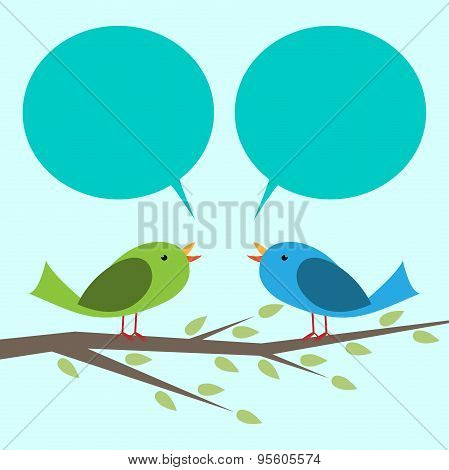 Two Birds Communicating