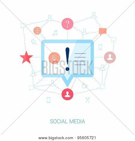 User generated news and short messaging vector illustration