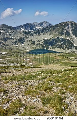 Panoramic view towards Vlahini Lakes, Pirin Mountain