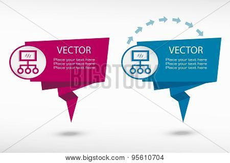 Internet Community And Social Network Symbol On Origami Paper Speech Bubble