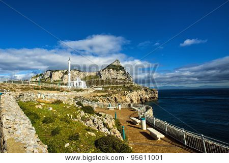 Ibrahim Al Ibrahim Mosque At Europa Point, Gibraltar Rock