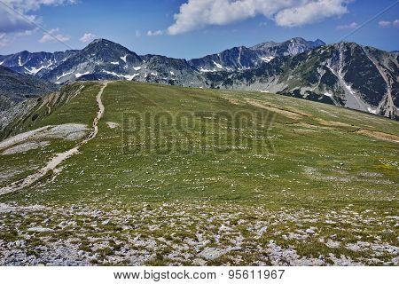 amazing panorama near Vihren Peak,