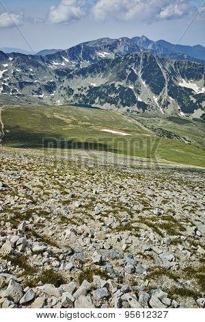 amazing panorama near Vihren Peak, Pirin Mountain
