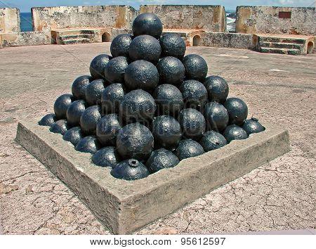 Cannon Balls Fort San Cristobal San Juan Puerto Rico