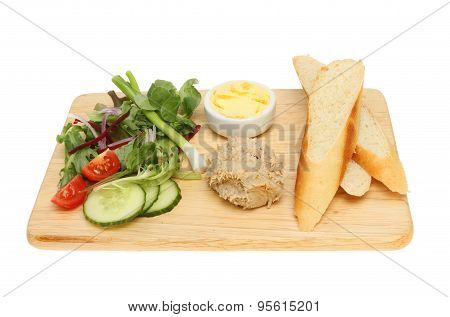Pate Bread And Salad