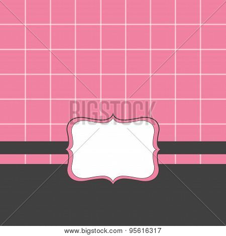 Label vector on pink background