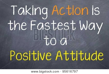 Taking Action to Positive Attitude