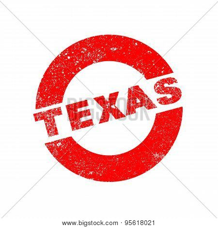 Rubber Ink Stamp Texas