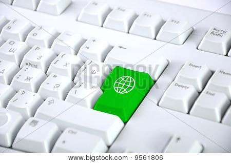 Detail Of The Keyboard