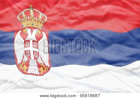 Serbia flag.