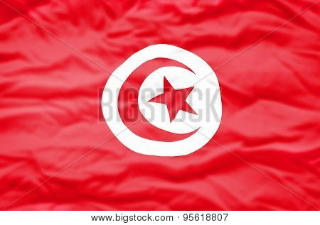 Tunisia flag.