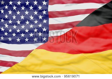 United States of America and Germany mixed flag.