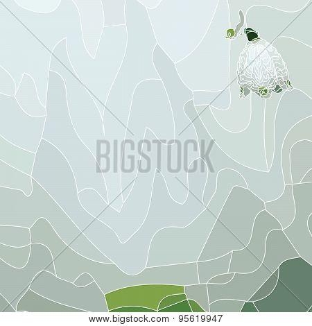 Snowdrop Spring Background.