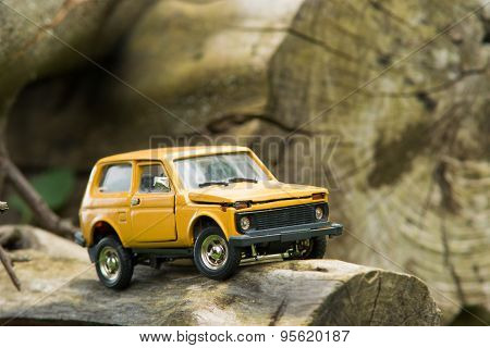Toy Suv On Logs