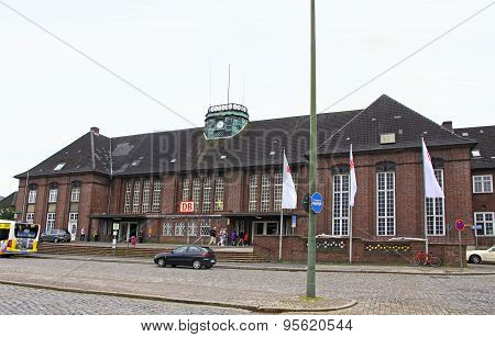 Central Railway Station In Flensburg, Germany
