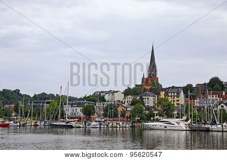 Picturesque View Flensburg City, Germany
