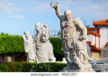 Stone statues at the Da Fo Buddhist Temple. Taiwan