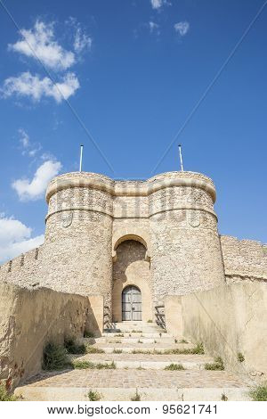 Doorway of the Ancient Castle - Chinchilla de Monte Aragon - Albacete - Spain