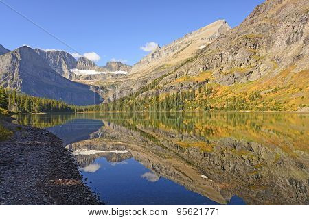 Fall Reflections On An Alpine Lake