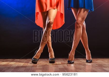 Women Legs On High Heels.