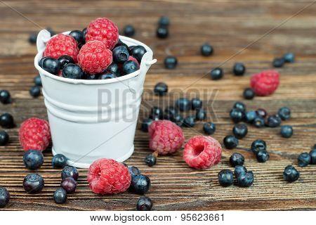 Mixed Berries In Small Bucket