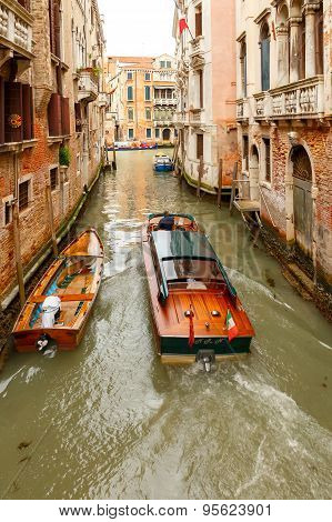 Venice. Water Taxi.