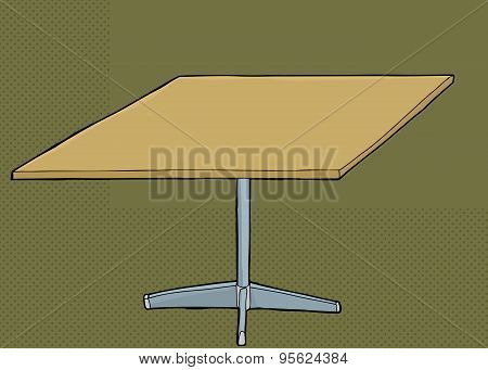 Square Table Over Green